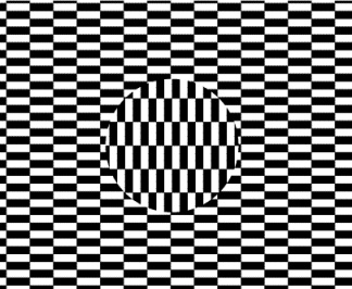 The ouchi illusion illustrated above is an illusion named after